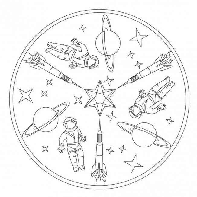 Raketen Mandala Fur Kindergarten Kita Und Schule