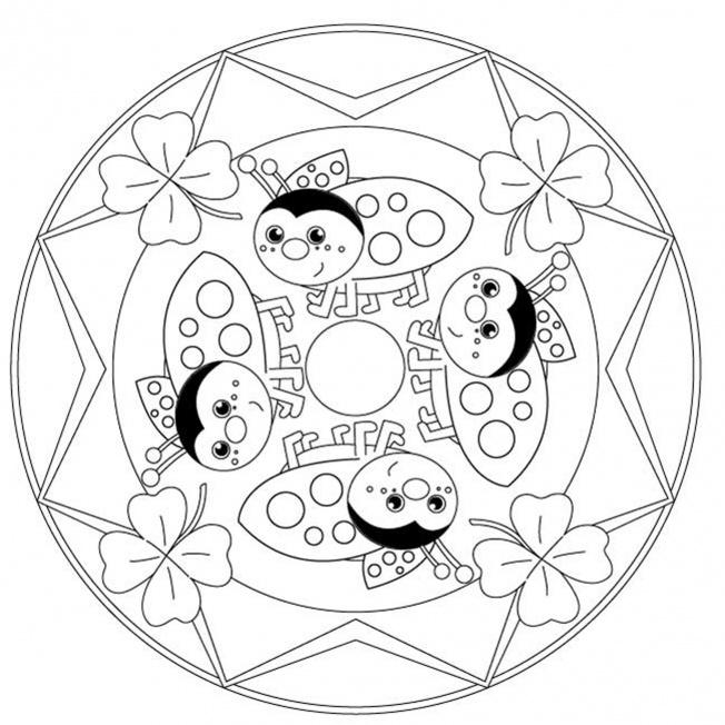 Glückskäfer-Mandala