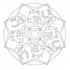 Glücksbringer-Mandala