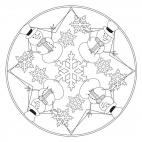 Schneemann-Mandala