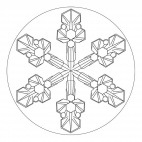 Ice Crystal Mandala 2