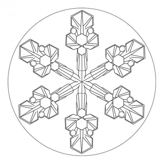 Eiskristall-Mandala