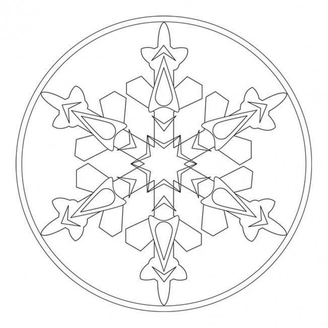 Eiskristall-Mandala 1