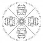 Osterei-Mandala