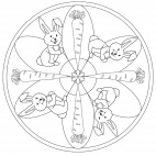 Rabbit and Carrot Mandala
