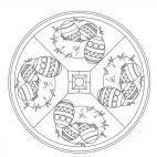 Osternest-Mandala