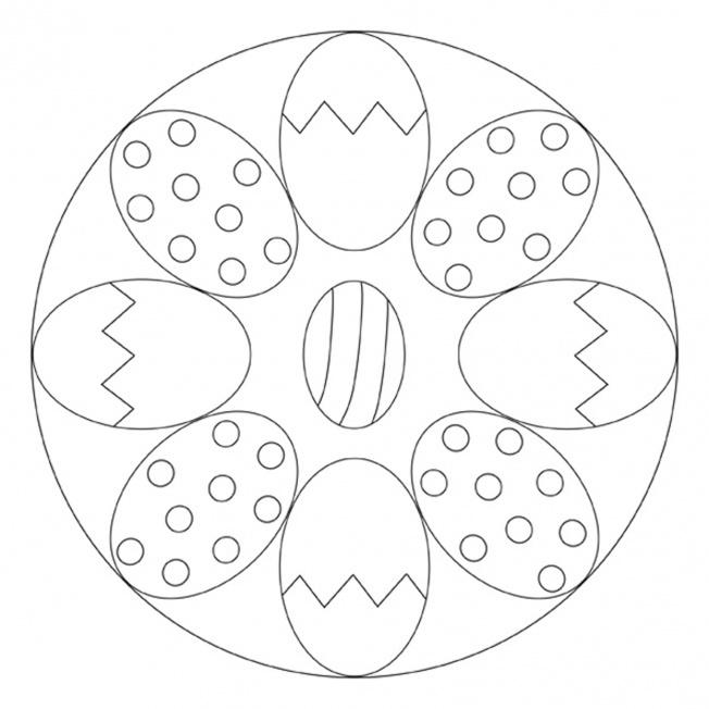 Osterei Mandala 1 Für Kindergarten Kita Und Schule
