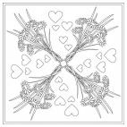 Blumenstrauß-Mandala