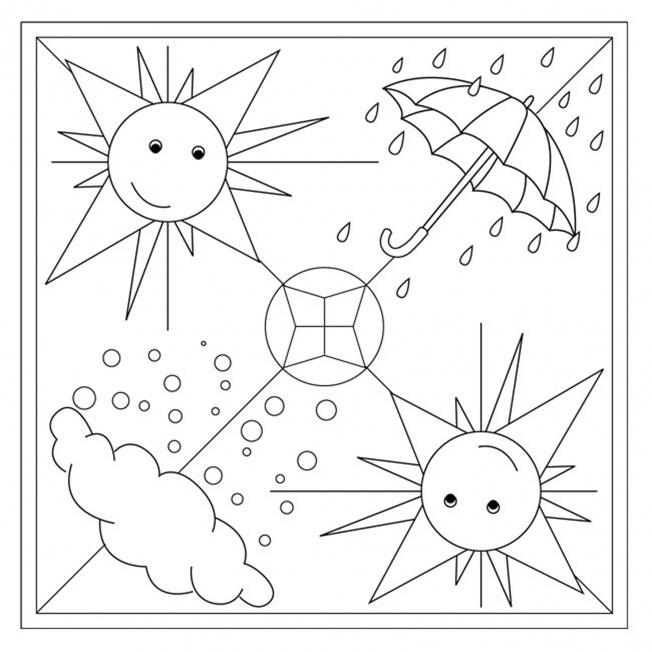 Aprilwetter-Mandala