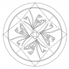 Schneeglöckchen-Mandala