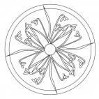 Schneeglöckchen-Mandala 1