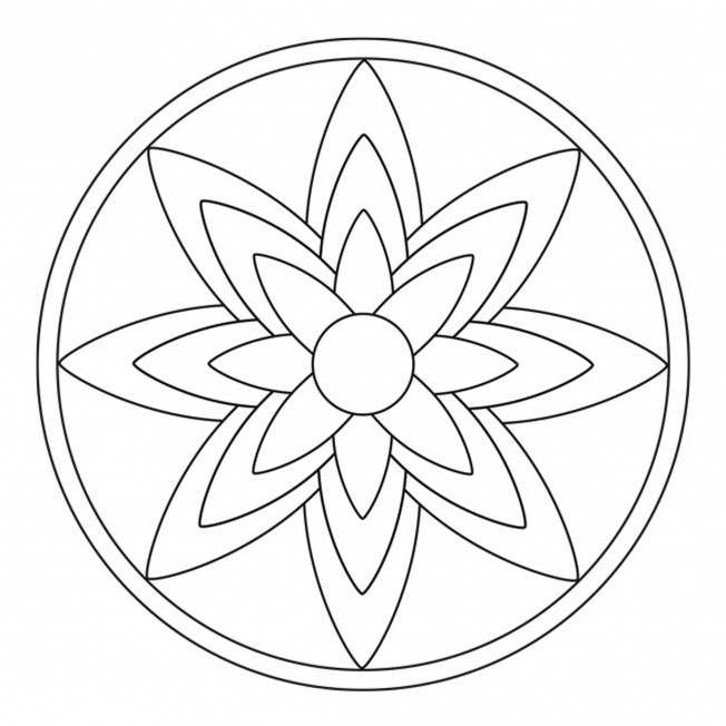 Blossom Mandala 1 For Pre K Kindergarten And Elementary School