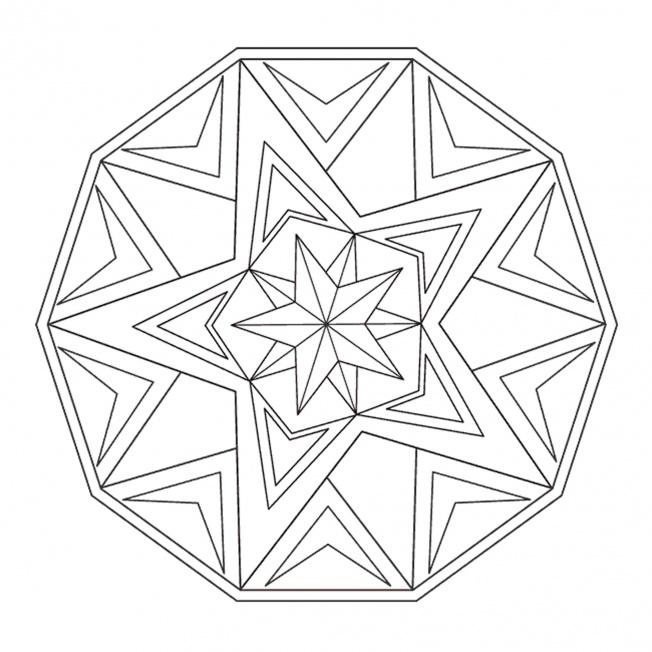 Sterne Mandala 1