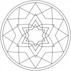 Sterne-Mandala 10
