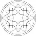Sterne-Mandala 11