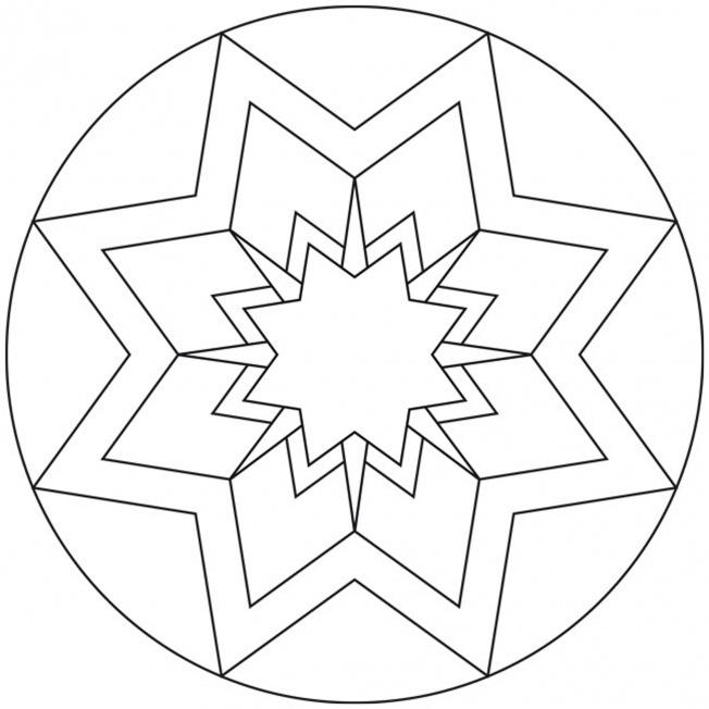 Sterne-Mandala 12 für Kindergarten, KiTa und Schule