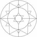 Sterne-Mandala 13