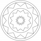 Sterne-Mandala 14