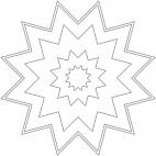 Mandala con stelle 15
