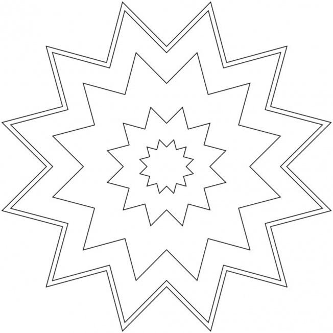 Sterne Mandala 15
