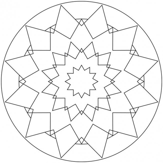 Sterne Mandala 16 F 252 R Kindergarten Kita Und Schule