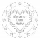 Muttertags-Mandala mit lieben Worten