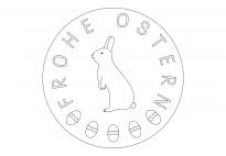 Frohe Ostern-Mandala