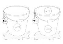 Muscheln sammeln: Schneidebild im Zahlenraum 1-6 SW