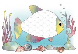 Fischschuppen nachspuren - Schreibvorbereitung mit Spaß