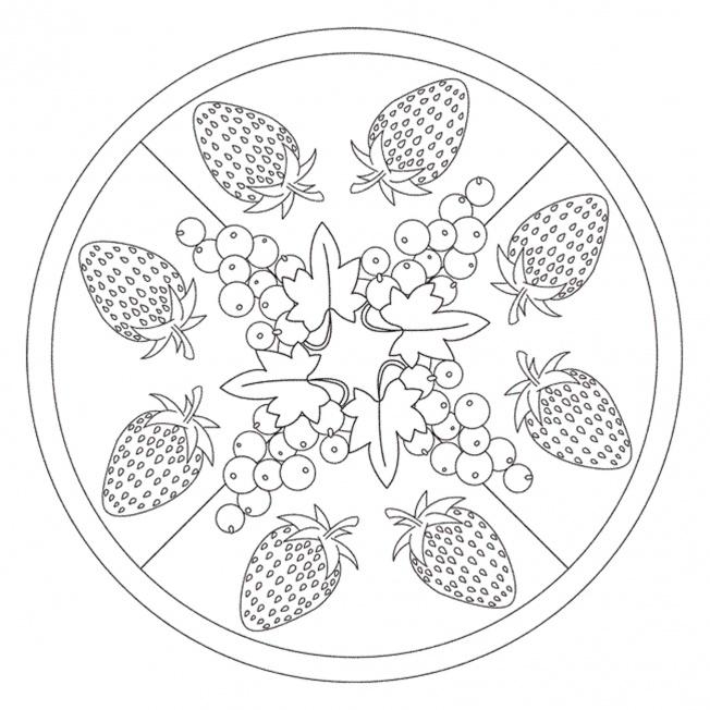summer berries mandala for pre