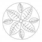 Mandala autunnali: foglie 1
