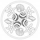 Muschel-Mandala