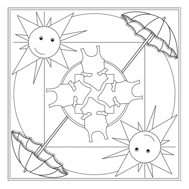 Summertime Coloring Pages Printable