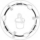Sandspielsachen-Mandala