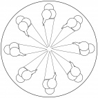 Eistüten-Mandala