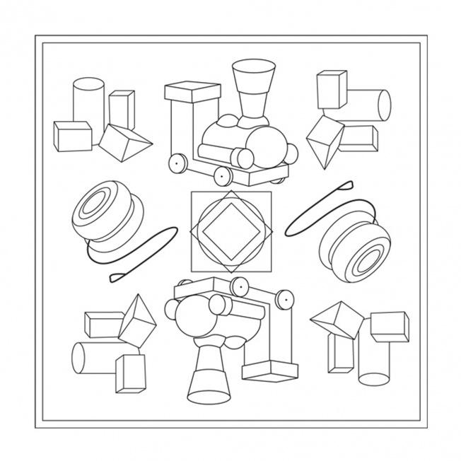 Holzspielzeug-Mandala