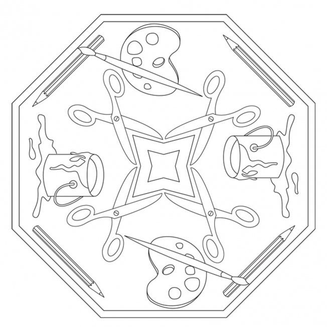 Farben Mandala