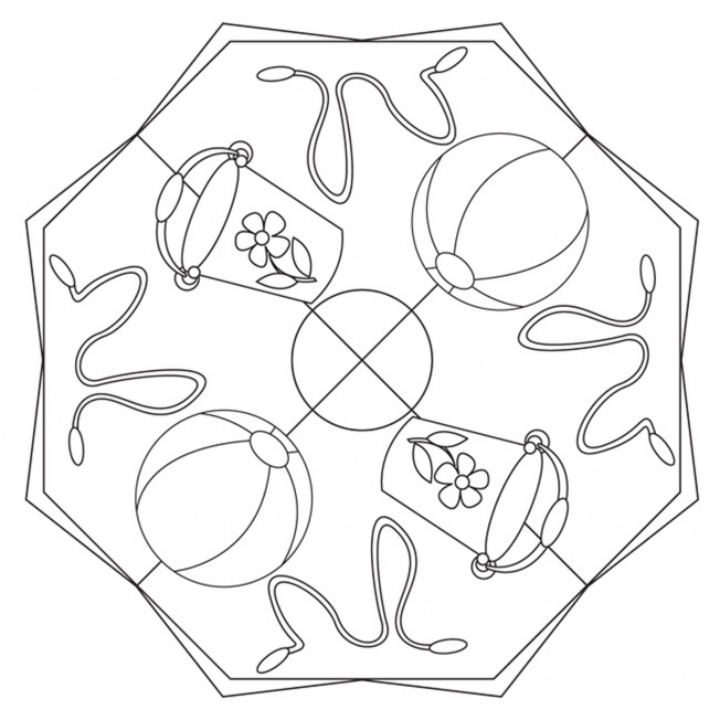 Gartenspielzeug-Mandala