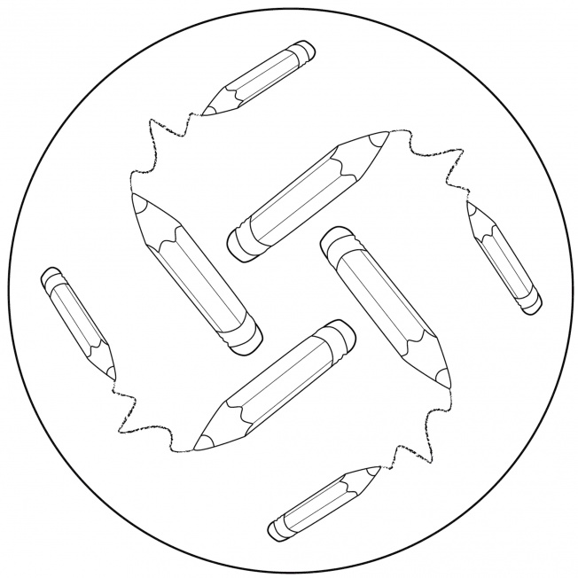 Stifte-Mandala