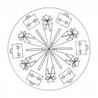 Schulbeginn-Mandala