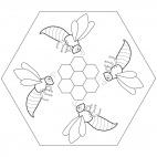 Bienen-Mandala