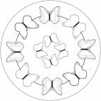 Schmetterlings-Mandala 1