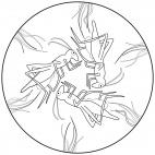 Grashüpfer-Mandala