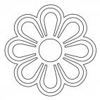 Geometrisches Mandala 7