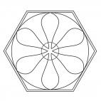 Mandala geometrico 9
