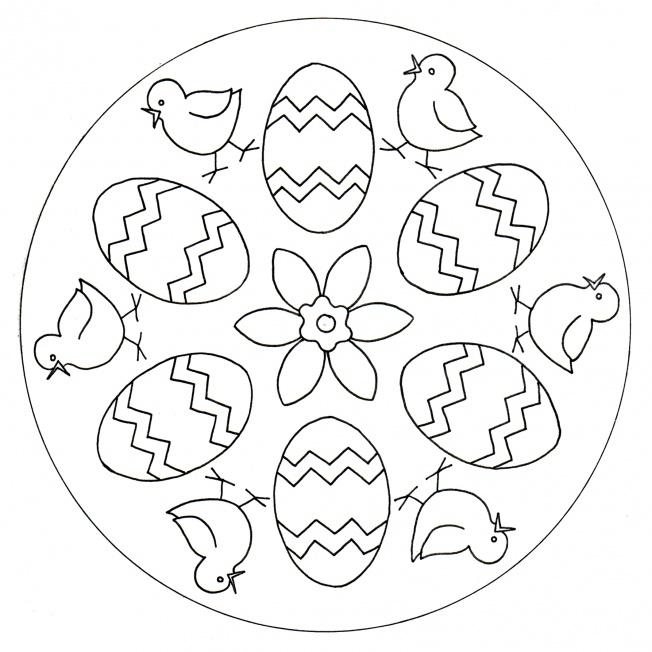 Küken-Mandala 2