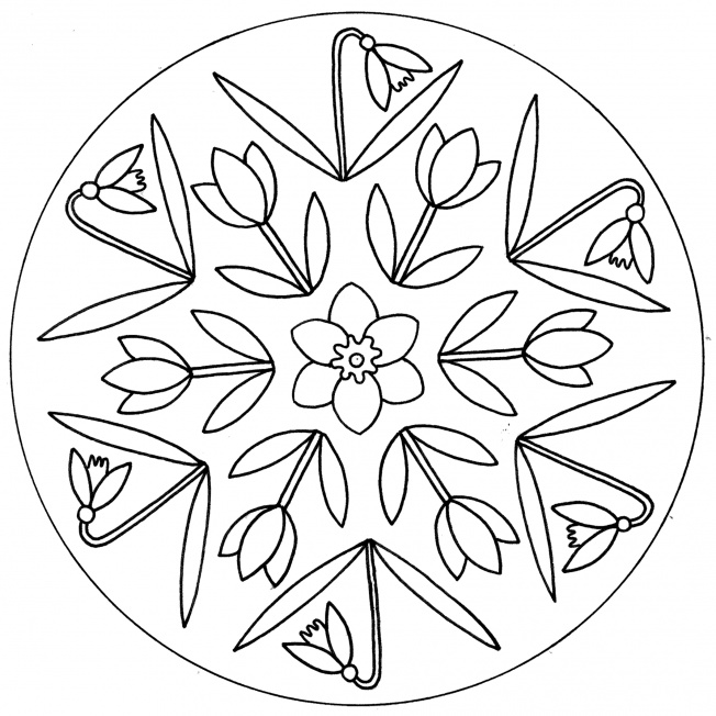 Frühlingsblumen-Mandala