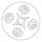 Kürbis-Mandala
