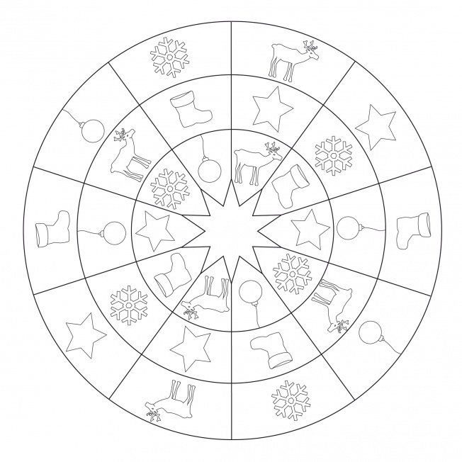 Sterne-Mandala 19