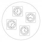 Clocks Mandala